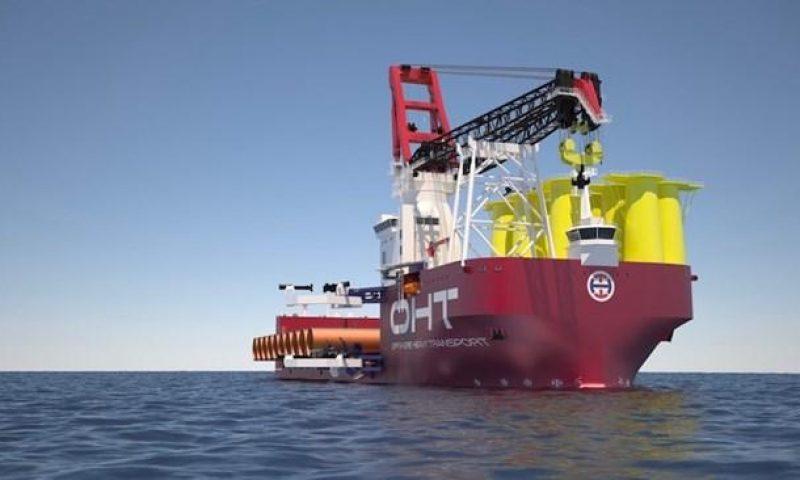OHT semi-submersible Alfa Lift Dogger Bank Offshore Wind Farms