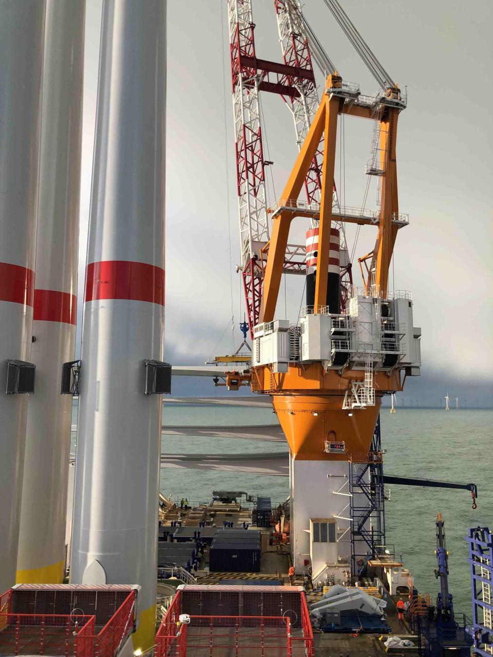 Vestas V164 8.4 MW Windturbine Installation