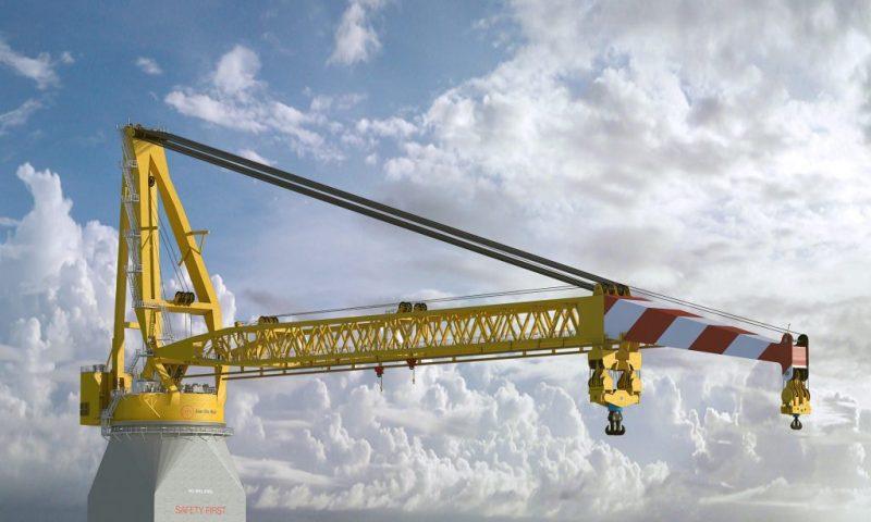 Huisman Equipment Bags Jan De Nul Contract for a 5,000MT Offshore Crane