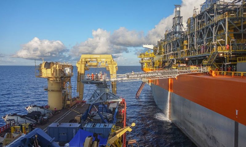 Ampelmann fpso liza destiny Guyana SBM Offshore