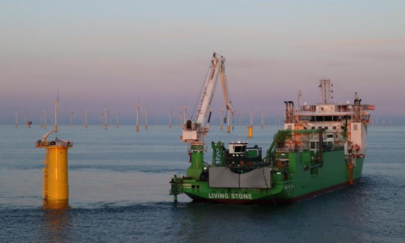 DEME´s Living Stone Completes Inter-Array Cable Laying Works for SeaMade