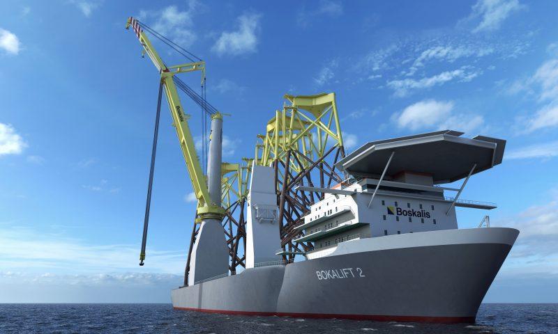 Heavy lift crane vessel bokalift 2 offshore construction