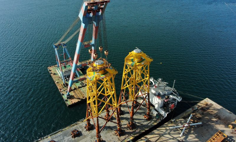 Jan De Nul Jacket Loadout TPCS Offshore Wind Farm Taiwan