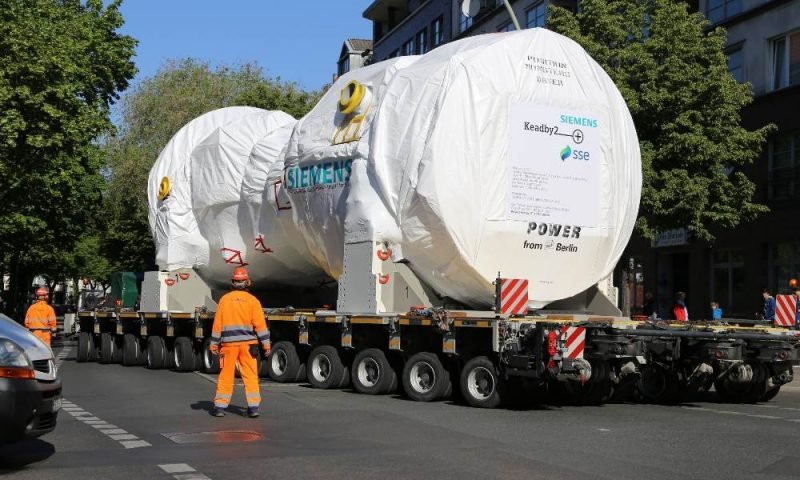 Siemens Energy Gas Turbine transport