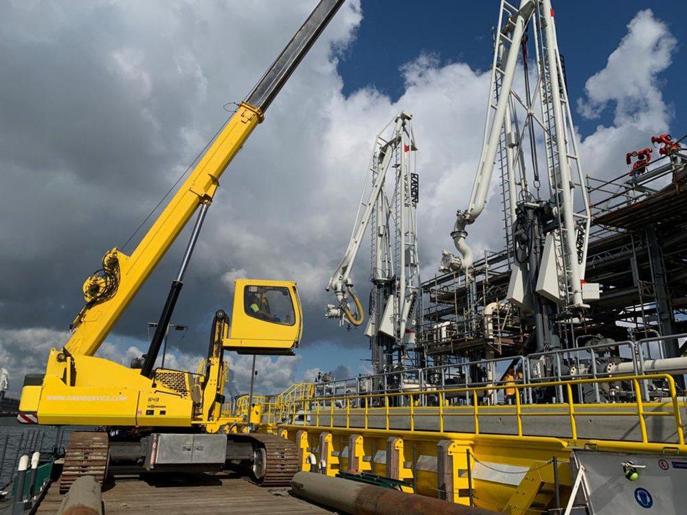 modificaties en onderhoud laadarmen ATPC Antwerp, kraanponton Elsa, Gonda 2, Kanon Loading Equipment