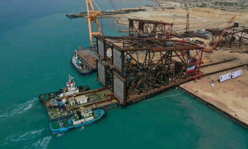 Petropars South Pars Gas Field Wellhead Jackets Loadout Heavylift