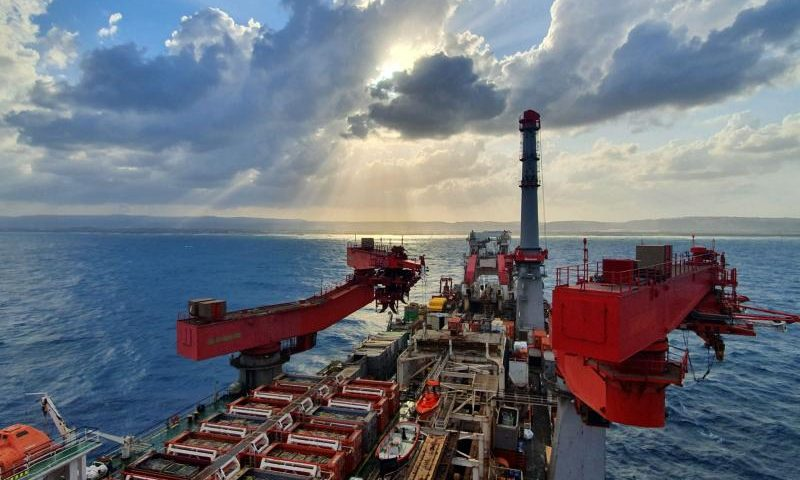 Allseas Solitaire Up and Running Offshore Israel Karish project