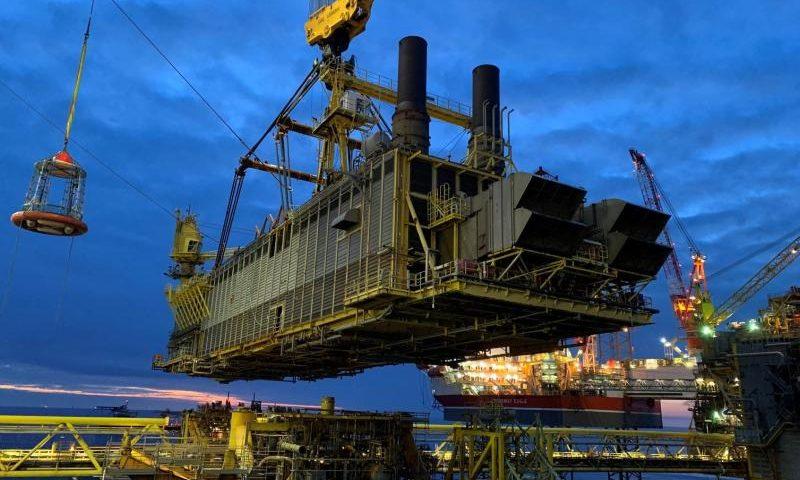 Total Tyra Redevelopment Wellhead and Riser Platform Removal Campaign, Heerema Sleipnir