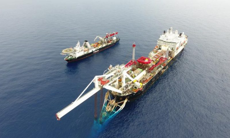 Allseas Celebrates Very First Job in China, Audacia and Calamity Jane, Pipelay vessels