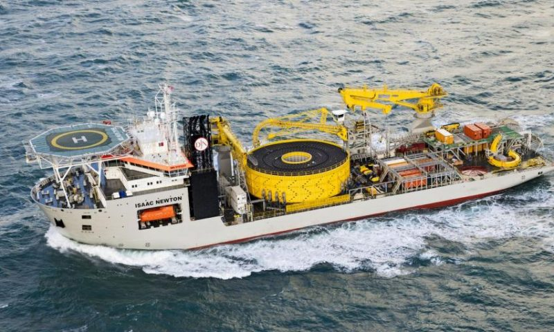Jan De Nul Group and Hellenic Cables CLV ISAAC NEWTON Crete-Peloponnese SUBMARINE POWER CABLE