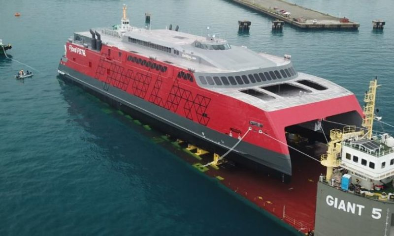 Mammoet, Austal Philippines ferry launch Boskalis Giant 5