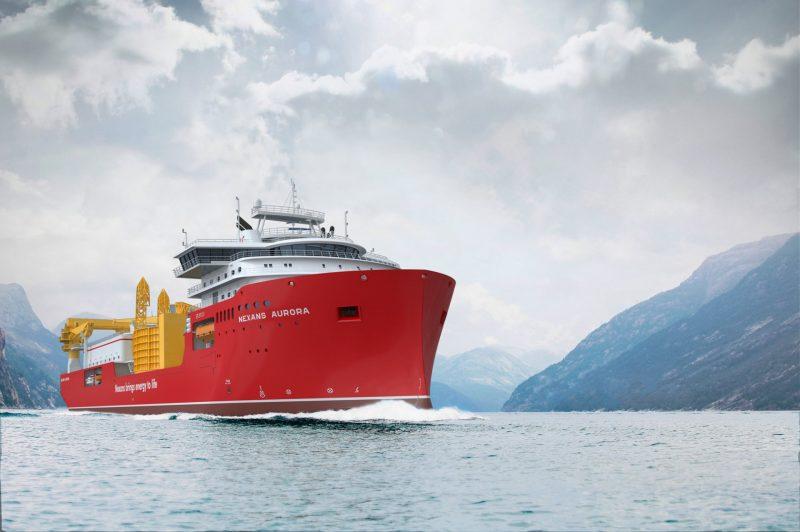 Ulstein Verft Starts Outfitting of the CLV Nexans Aurora