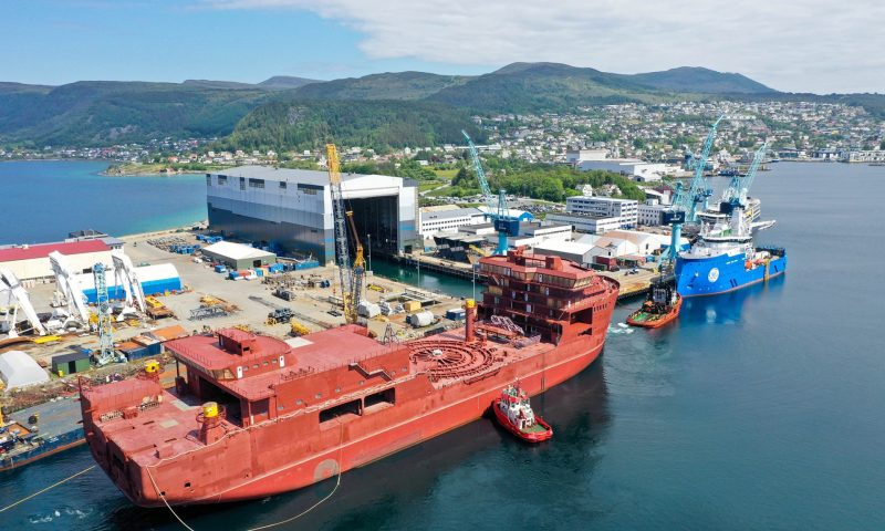 Ulstein Verft Starts Outfitting of the CLV Nexans Aurora