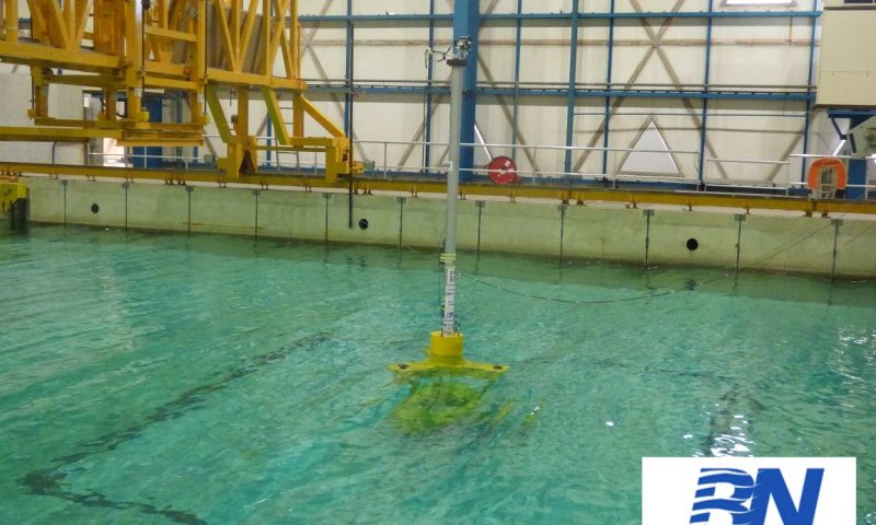 BlueNewables Successfully Completes WIND-bos Spar Platform Testing
