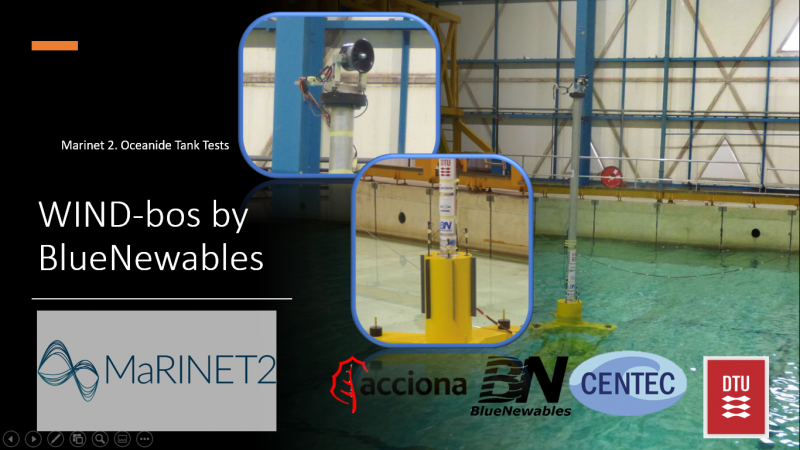BlueNewables Successfully Completes WIND-bos Spar Platform Testing
