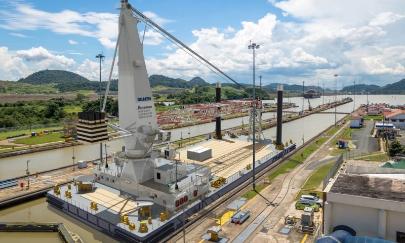 DAMEN Concludes Keel Laying on 75-Metre Crane Barge in Panama