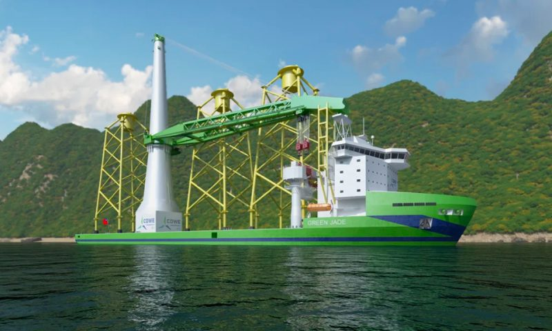 Huisman To Deliver Mast Crane for CSBC-DEME's Green Jade