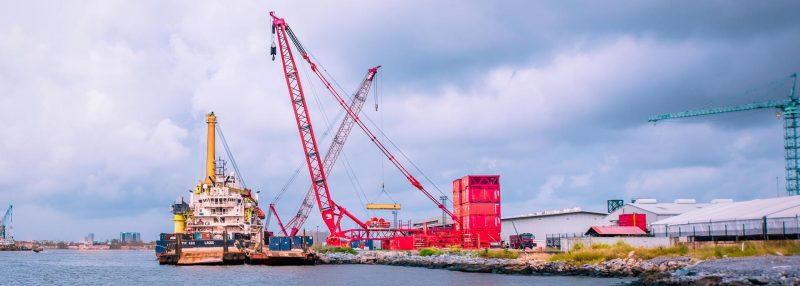 Mammoet Terminal Crane is Now in Operation in Nigeria