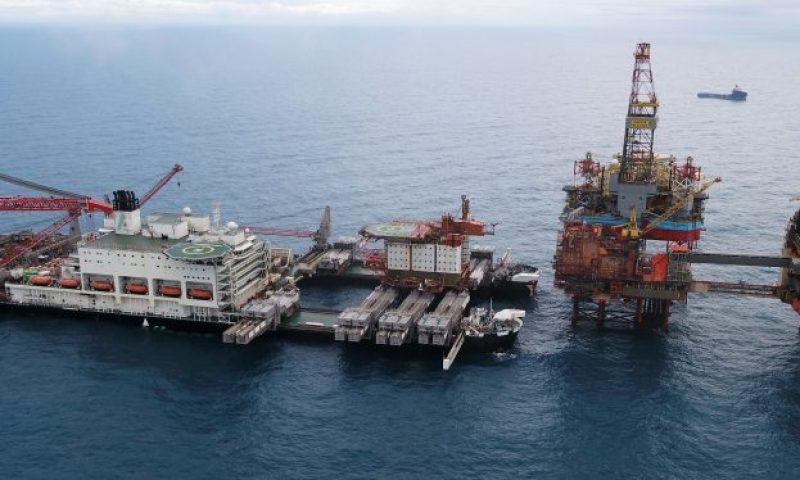 Allseas Pioneering Spirit Removes Aker BP Valhall QP Topsides