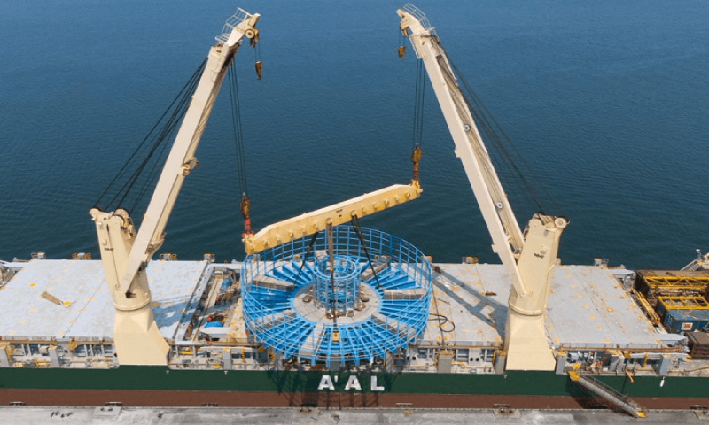 AAL Transports Giant Cable Carousel from Dubai to Taiwan