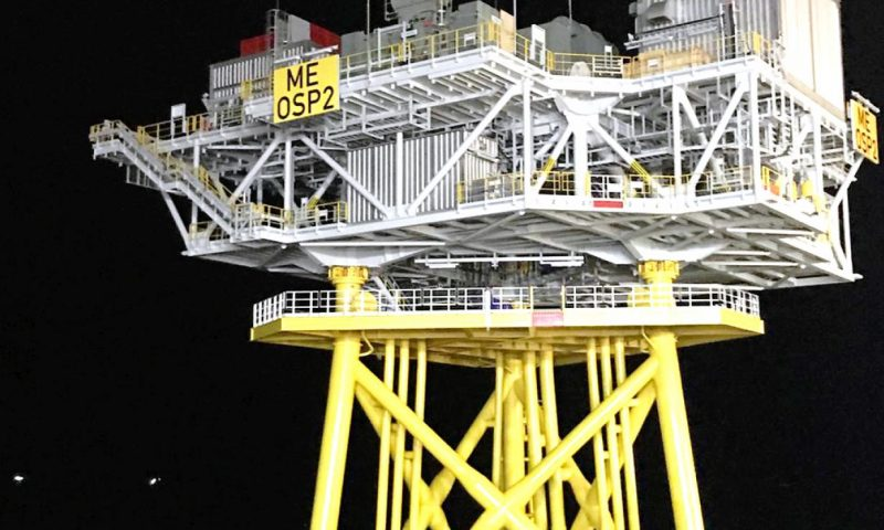 DEME Successfully Installed Two Offshore Substations at Moray East OWF