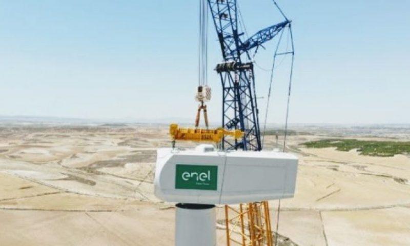 Enel Green Power Nacelle Installation Partanna Wind Farm in Sicily