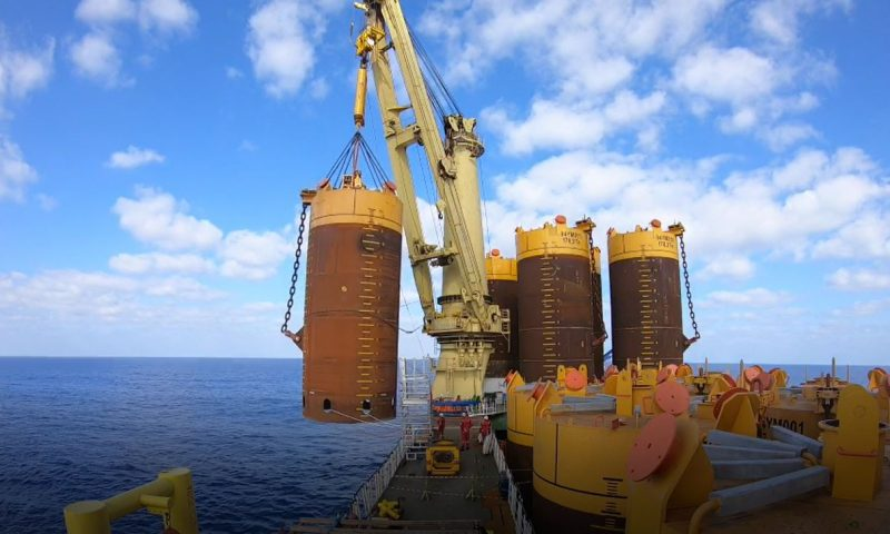 Installation Suction Anchors FPSO Karish Field