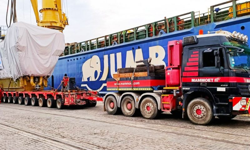 Mammoet SPMT Jumbo maritime heavylift vessel Heavy transport