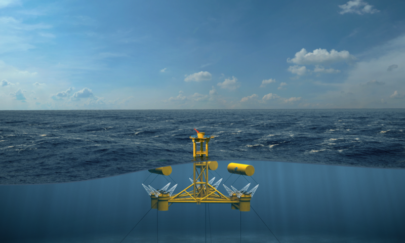 Offshore wave energy generating, marine power systems