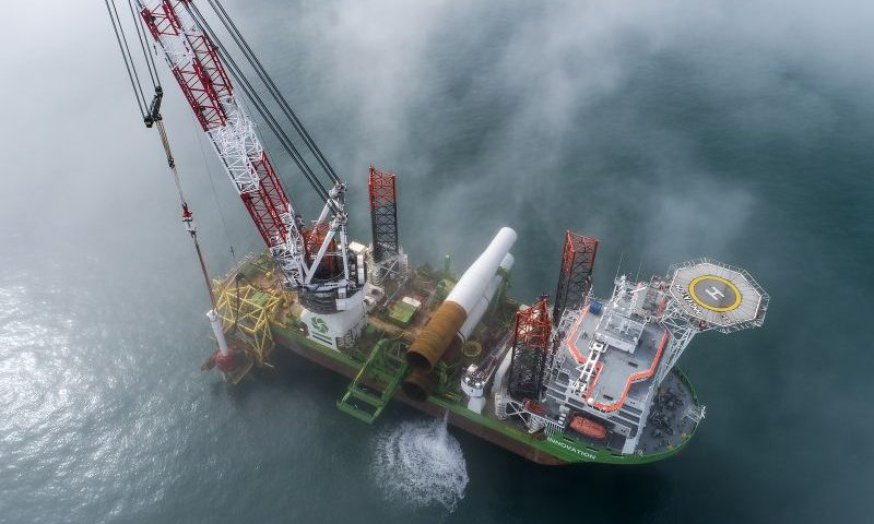 offshore installation vessel 'Innovation' DEME
