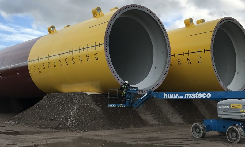 Monopile for Triton Knoll offshore wind farm at SIF