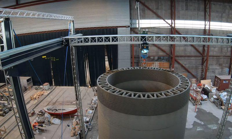 3D printed wind turbine tower