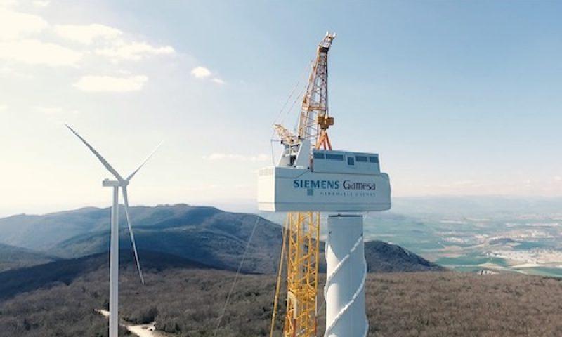 Wind Turbine Nacelle Installation Siemens Gamesa