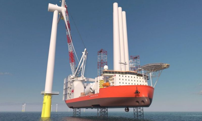 Offshore Wind Turbine Installation Swire Blue Ocean Jackup
