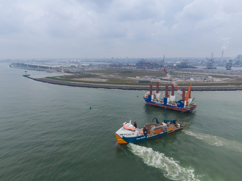 offshore installation vessel MPI Adventure and Cable lay vessel Nexus