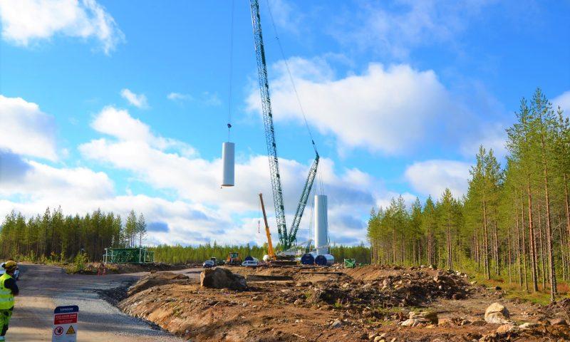 Vestas wind turbine installation Vattenfall