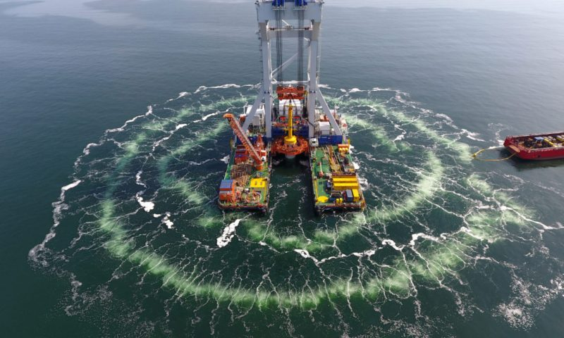 HLV Svanen Floating MPs Danish Kriegers Flak Offshore Wind Farm