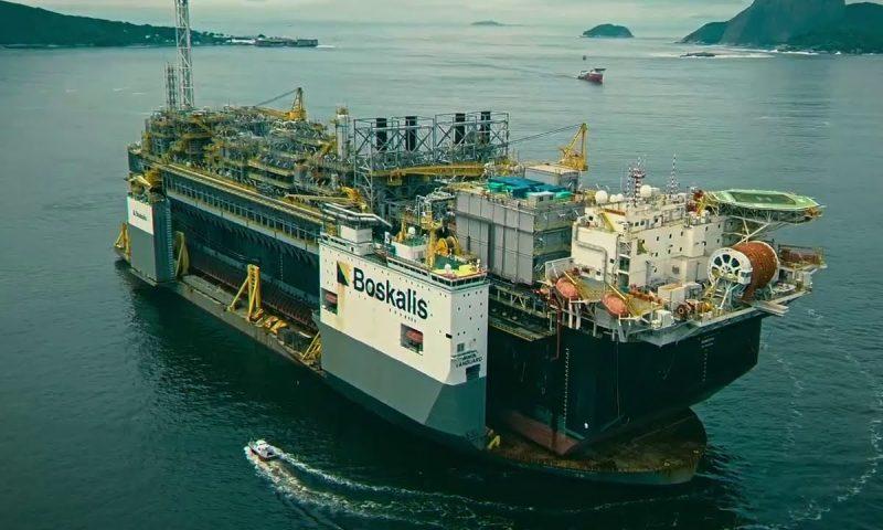Boskalis BOKA Vanguard FPSO P70 Transport Petrobras