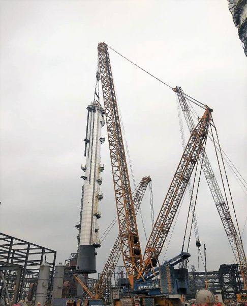 Sarens CC6800 Performs Lifts at Chinese Chemical Plant in Daqing