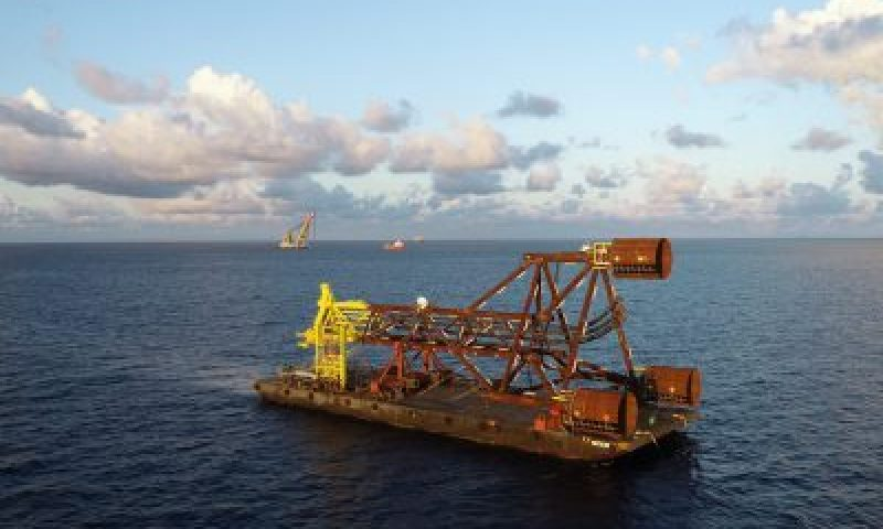 Petrofac ECW-A Jacket and Boatlanding Offshore Installation