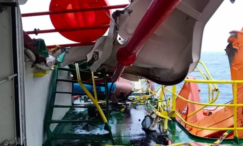 Vessel Collision at Baram Platform