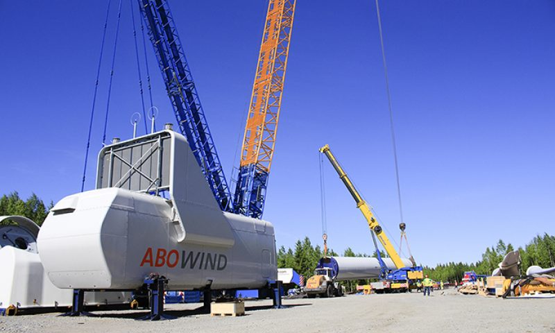 ABO Wind nacelle and wind turbine installation