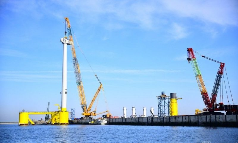 First Ever V164-9.5 MW Turbine Installed on a Floating Wind Project
