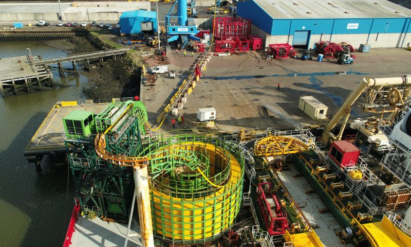 Global Offshore Cable Carousel Cable lay vessel Global Symphony