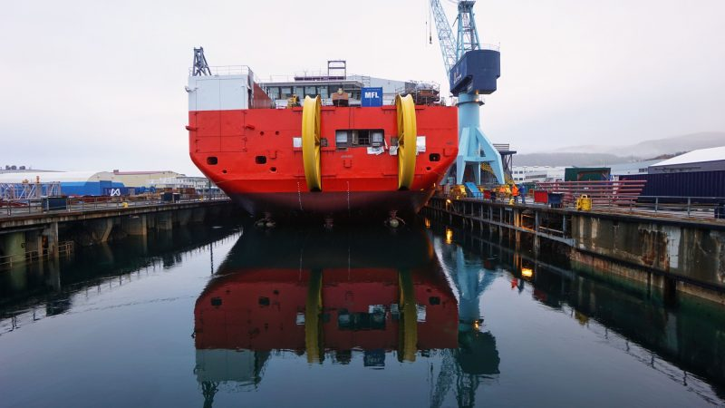 Launch of CLV Nexans Aurora at Ulstein