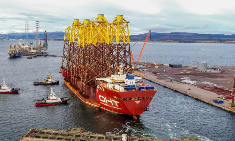OHT Completes Jacket Transportation for Moray East Offshore Wind Farm