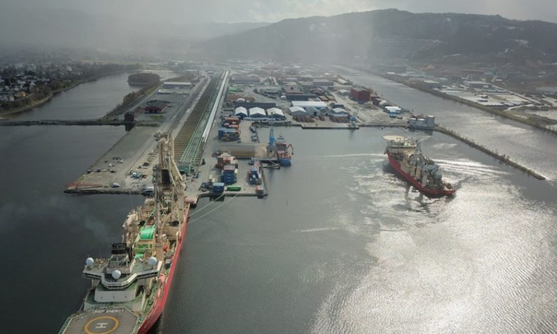 TechnipFMC's Orkanger Spoolbase in Norway