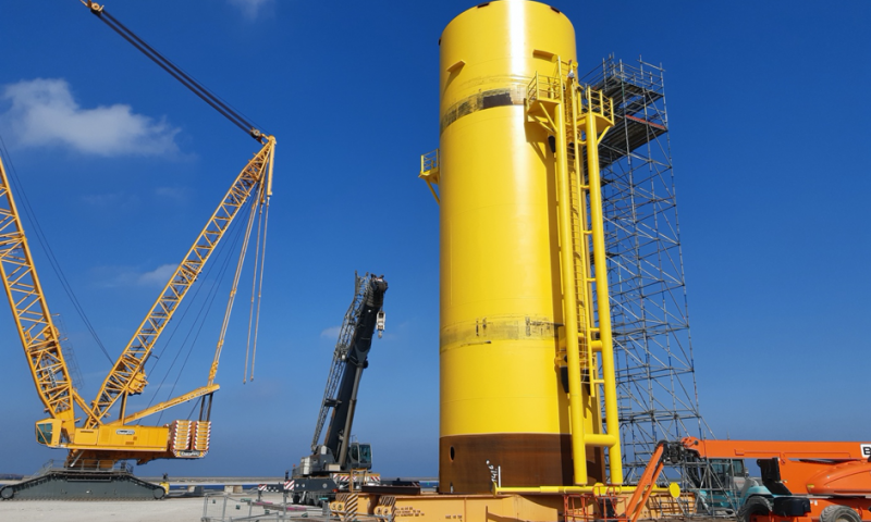 Transition piece Hollandse Kust Zuid offshore wind farm