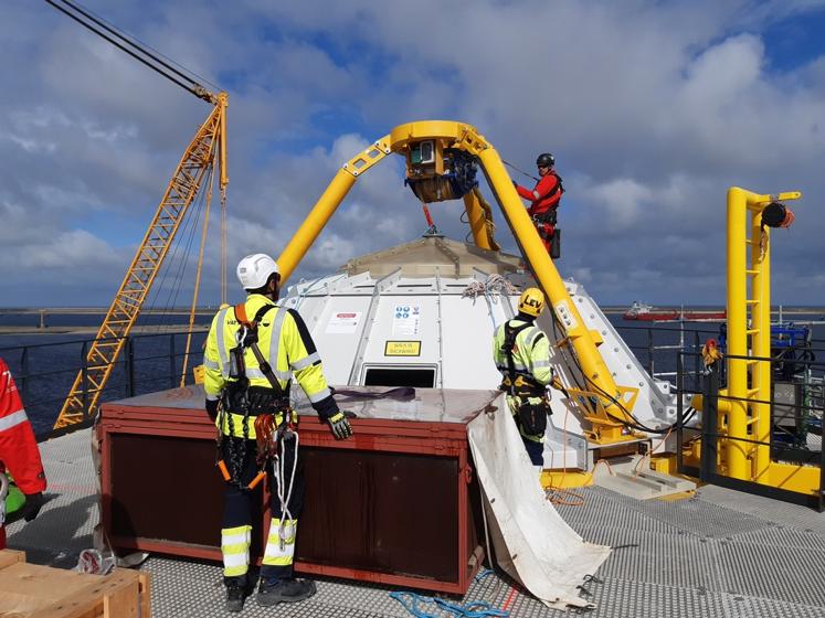 Transition piece Hollandse Kust Zuid offshore wind farm