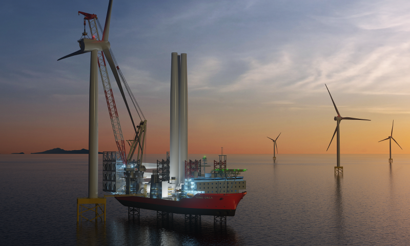 Cadeler to Dress Wind Orca with Brand New 1,600T Heavy Lift Crane